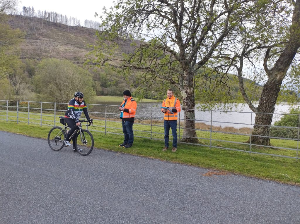 Ystwyth CC rider  starting the first club time trial of 2021.